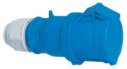 Bals IP44 Blue Cable Mount 2P+E Industrial Power Socket, Rated At 32.0A, 230.0 V