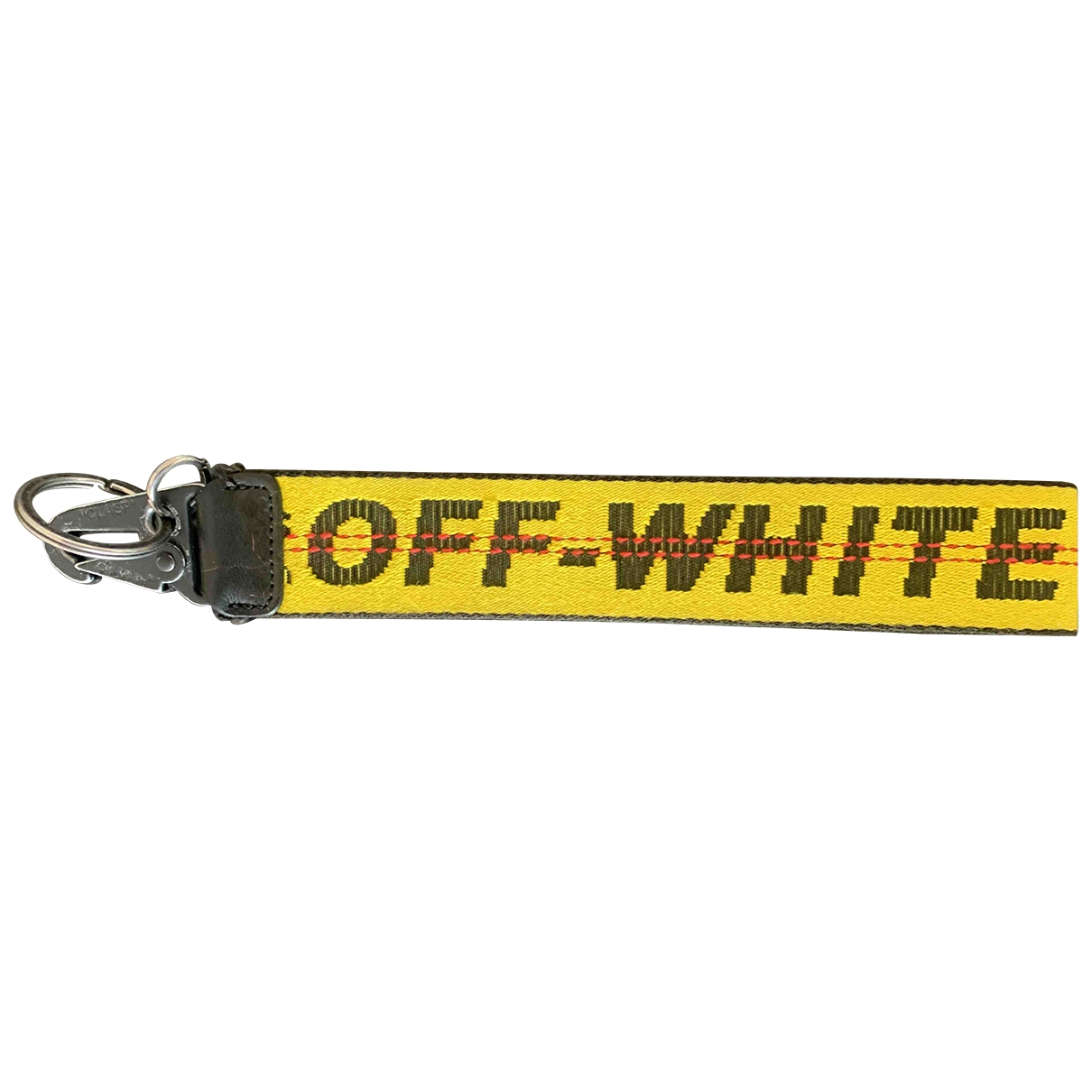 Off-white \N Yellow Cloth Bag charms for Women \N