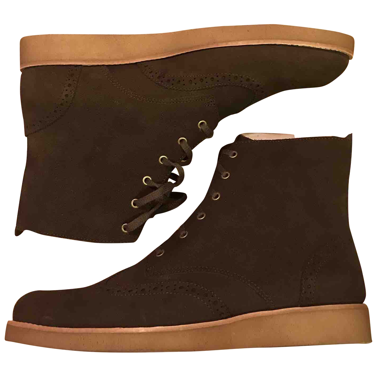 Clarks \N Brown Suede Lace ups for Men 12 UK
