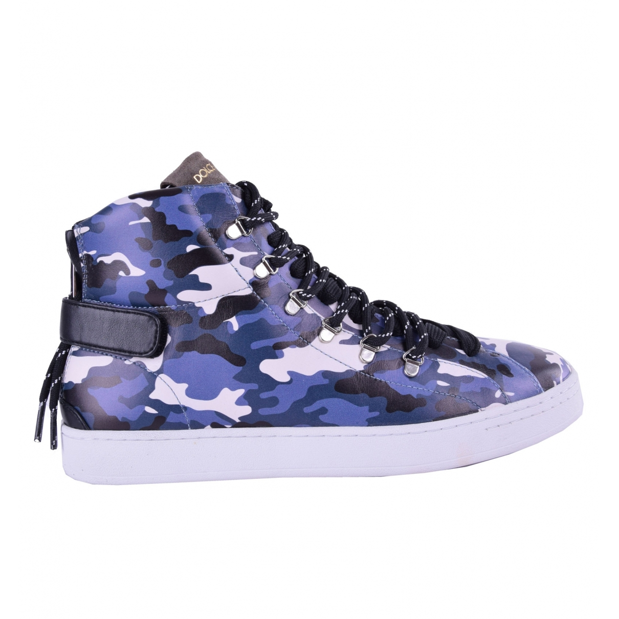 Dolce & Gabbana \N Blue Leather Trainers for Men 41 EU