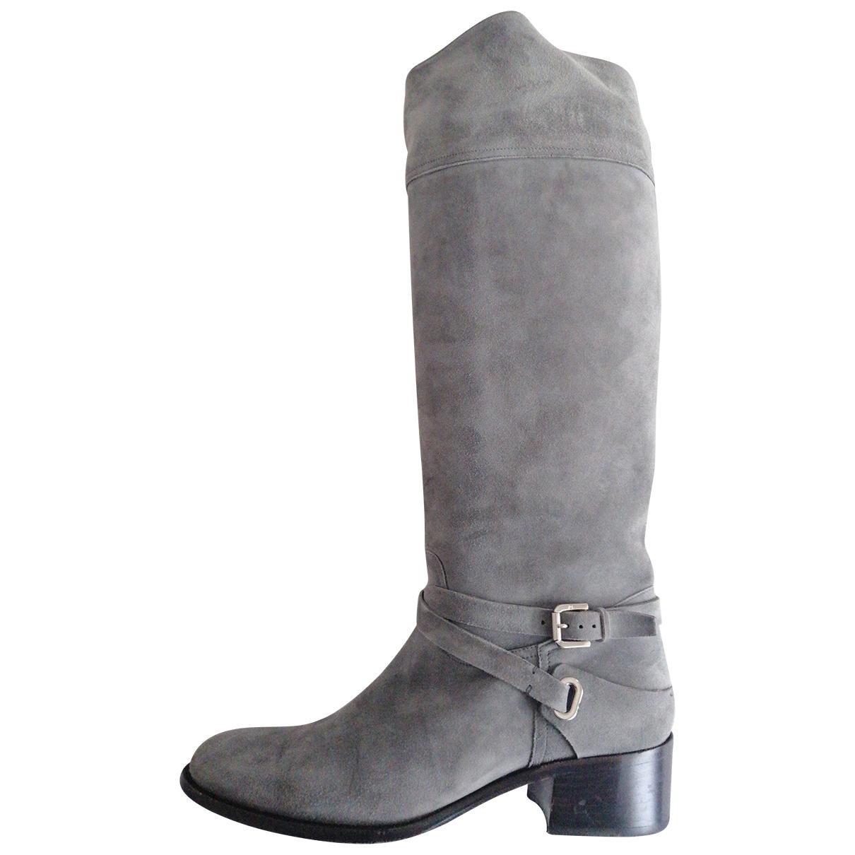 Ralph Lauren Collection \N Grey Suede Boots for Women 9.5 US