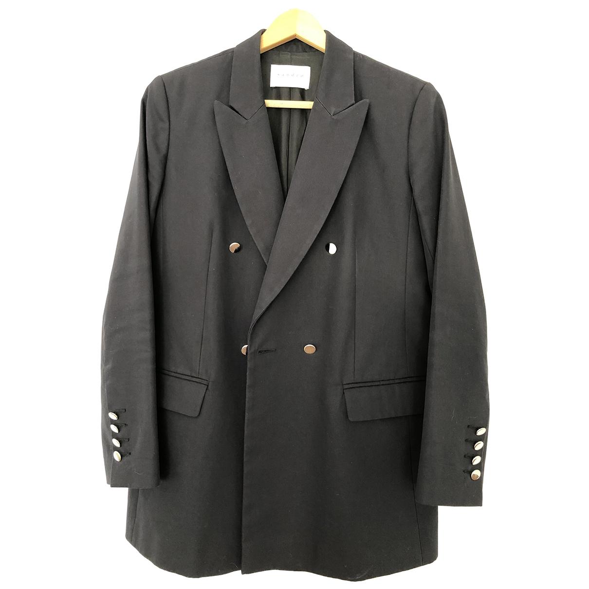 Sandro \N Blue Cotton jacket for Women 38 FR