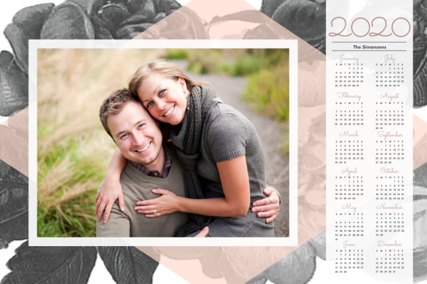 Calendar 12x18 Adhesive Poster, Home Décor -In Bloom