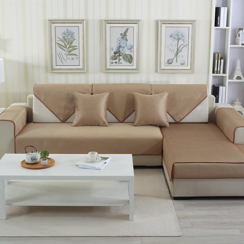 Pure Colors Polyester Soft Water Resistant Sofa Covers
