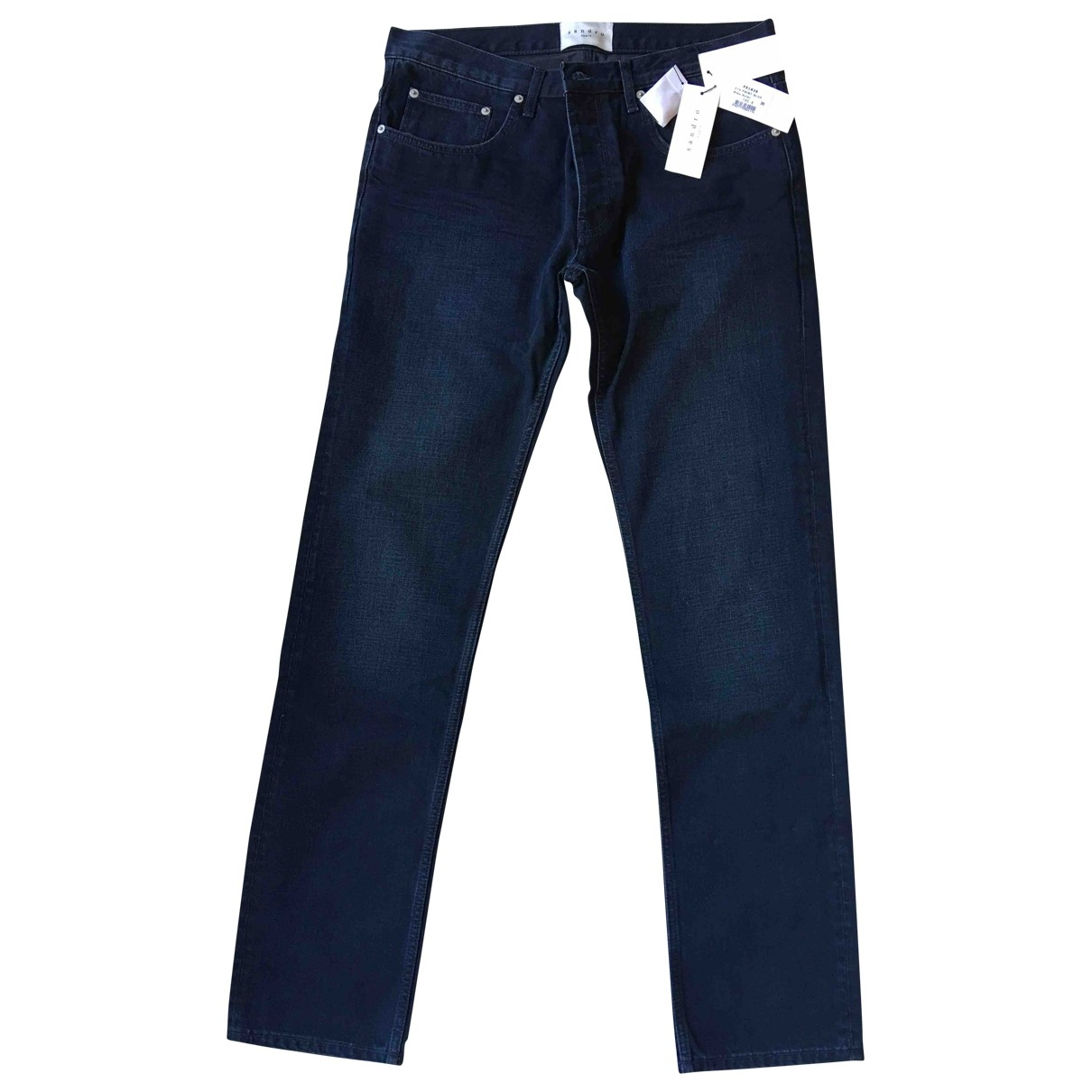 Sandro \N Blue Cotton Jeans for Men 36 US