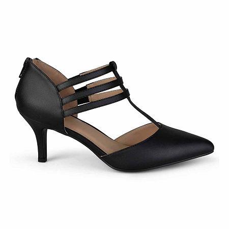 Journee Collection Womens Pacey Pumps Stiletto Heel, 8 1/2 Medium, Black