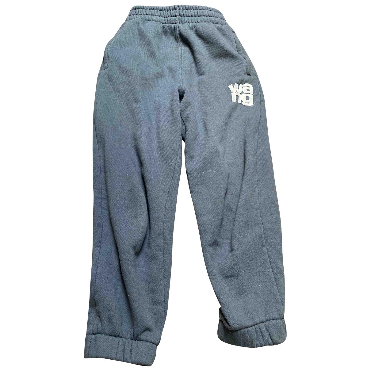 Alexander Wang \N Blue Cotton Trousers for Women L International