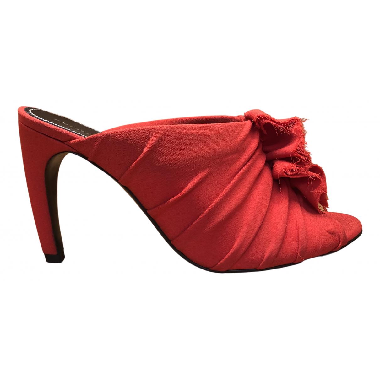Proenza Schouler \N Red Cloth Sandals for Women 40 EU