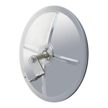 Retrac Mirror 610673 - 8in. Round Mirror Head, Convex, Sst W/J Brkt