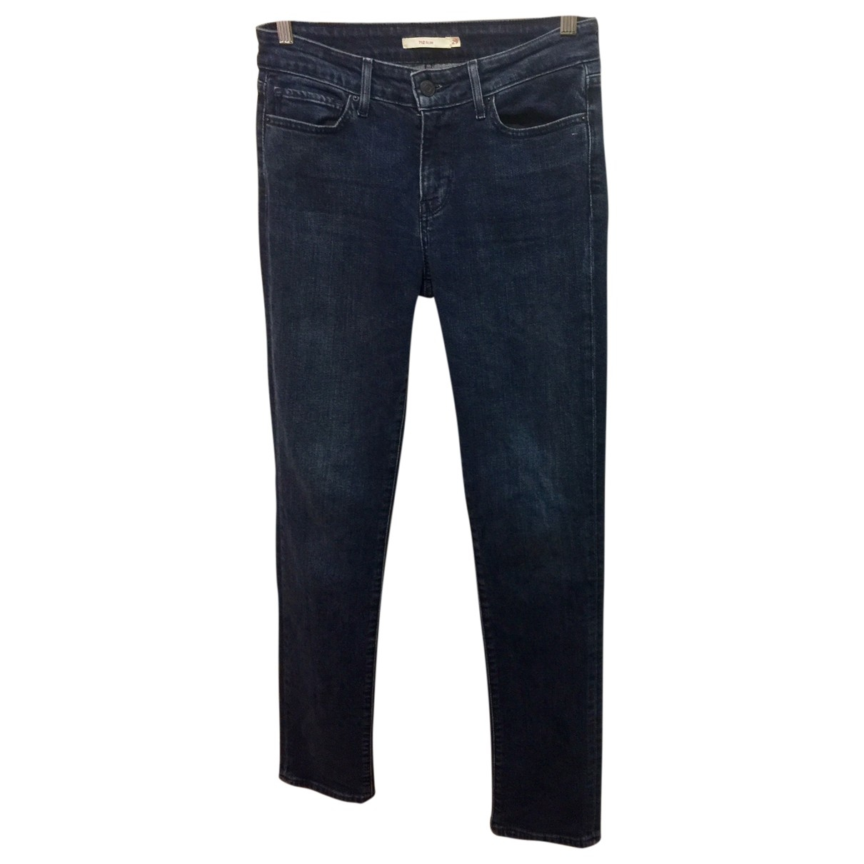 Levi's 712 Blue Cotton - elasthane Jeans for Women 29 US
