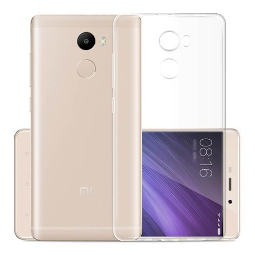 Silicon Back Cover High Quality Protective Soft Case Phone Shell For Xiaomi Redmi 4 - Transparent