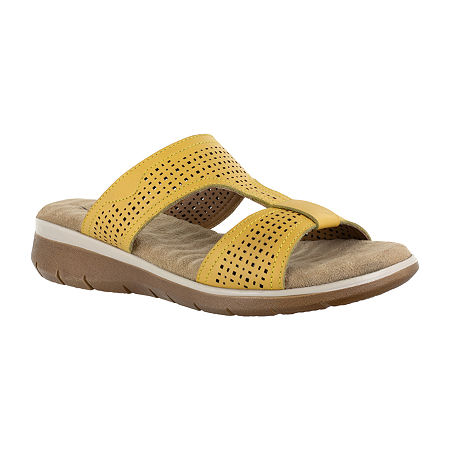 Easy Street Surry Womens Footbed Sandals, 6 1/2 Medium, Yellow