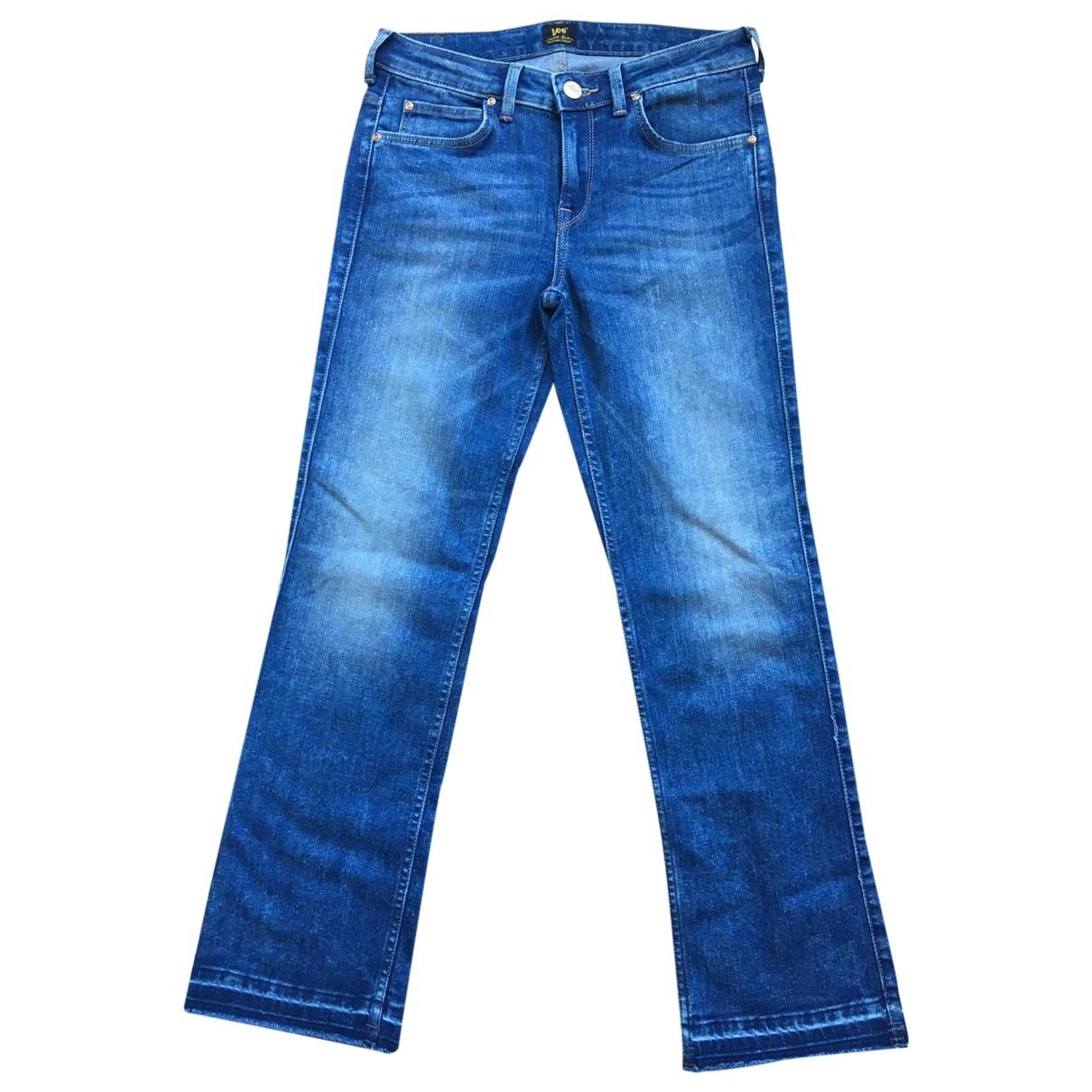 Lee \N Blue Denim - Jeans Trousers for Women 38 IT