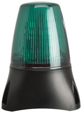 Moflash LEDA100 Buzzer Beacon 80dB, Green LED, 20 → 30 V ac/dc, IP65