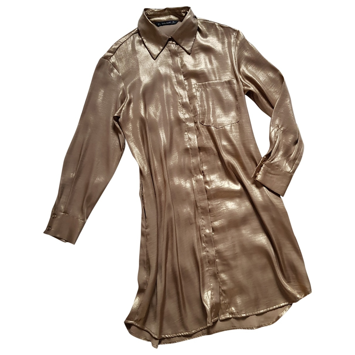 Zara \N Gold dress for Women M International
