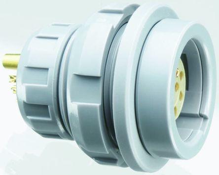 Lemo Connector, 11 contacts Panel Mount Plug, Solder