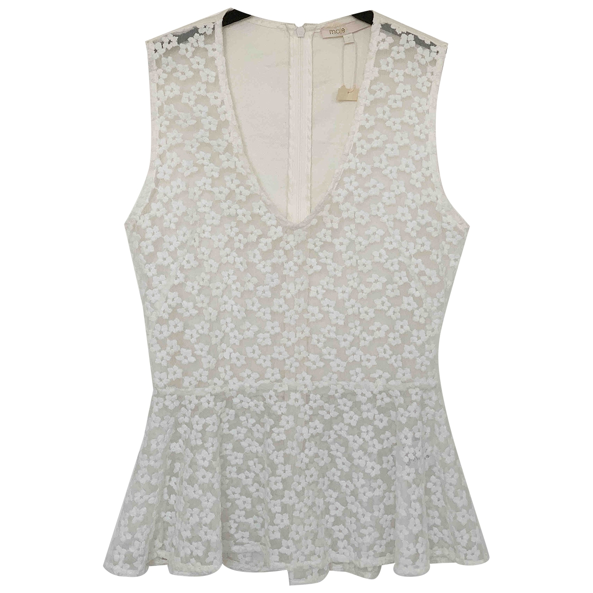 Maje \N White Lace  top for Women 34 FR