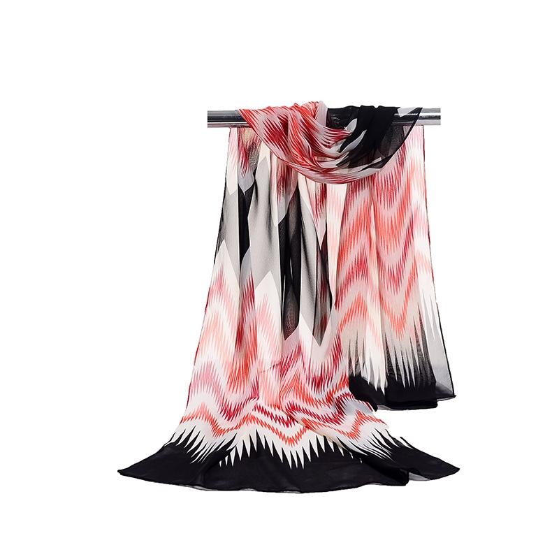 Ericdress 2018 Summer Wave Colorized Chiffon Scarf