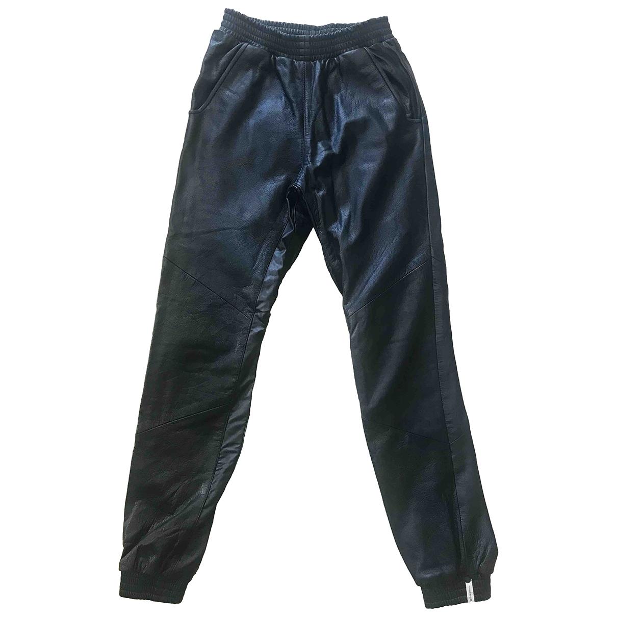 One Teaspoon \N Black Leather Trousers for Women XS International