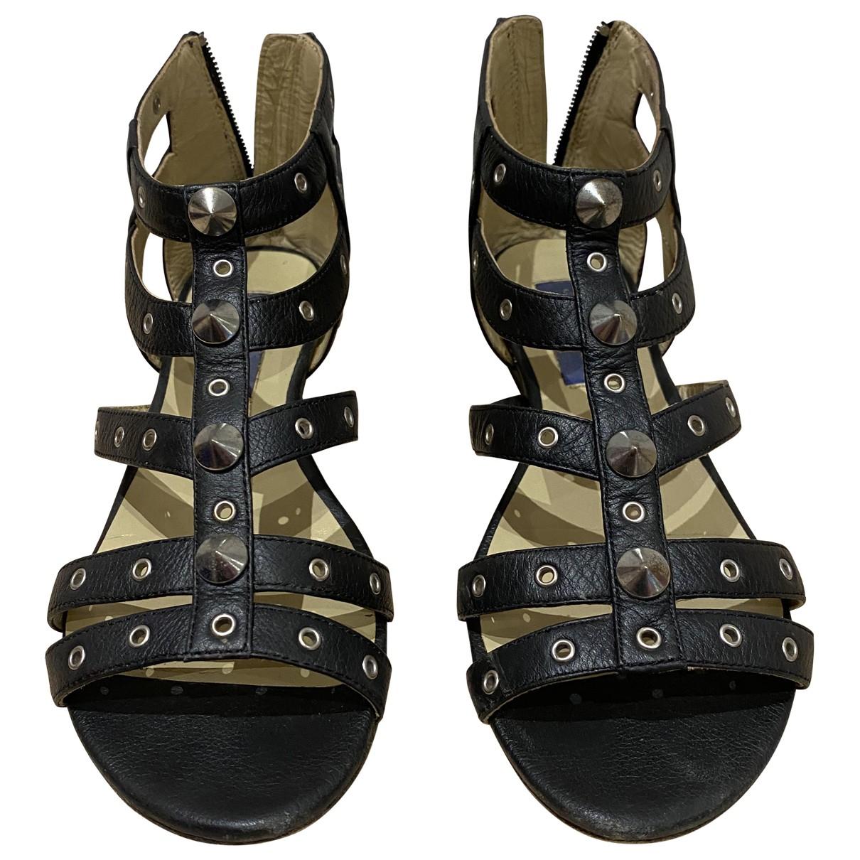 Jimmy Choo For H&m \N Black Leather Flats for Women 37 EU