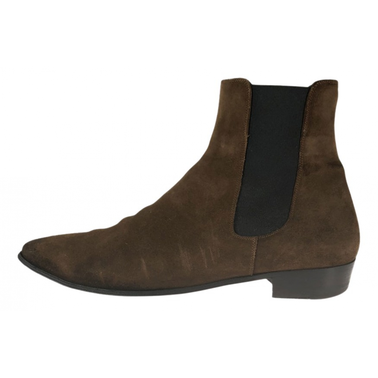 Celine \N Brown Suede Boots for Men 42 EU