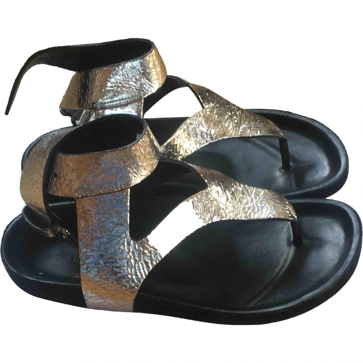 Isabel Marant \N Silver Leather Sandals for Women 36 EU