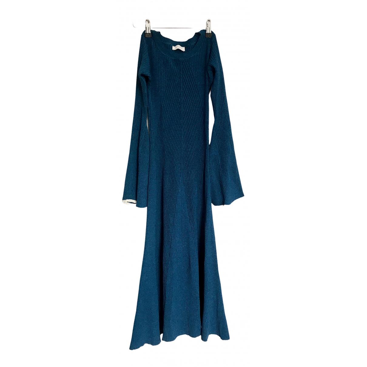 Sandro Fall Winter 2019 Blue dress for Women 36 FR