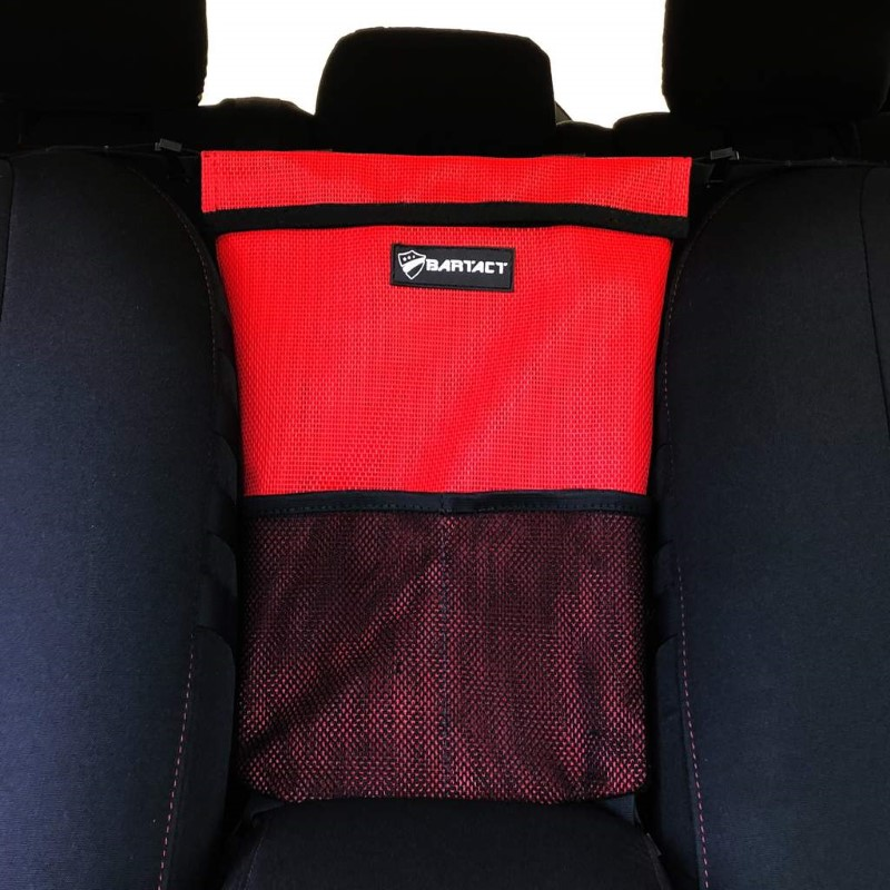 Bartact XXSSBR Universal Shade Material Seat Bag and Pet Divider Red