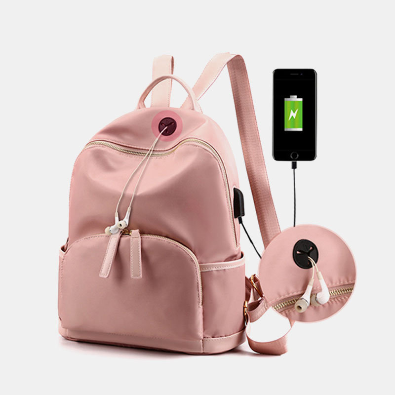 Women Nylon Waterproof Large Capacity Handbag Backpack