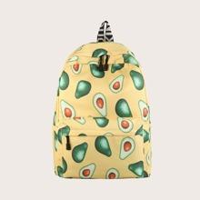 Kids Avocado Pattern Backpack