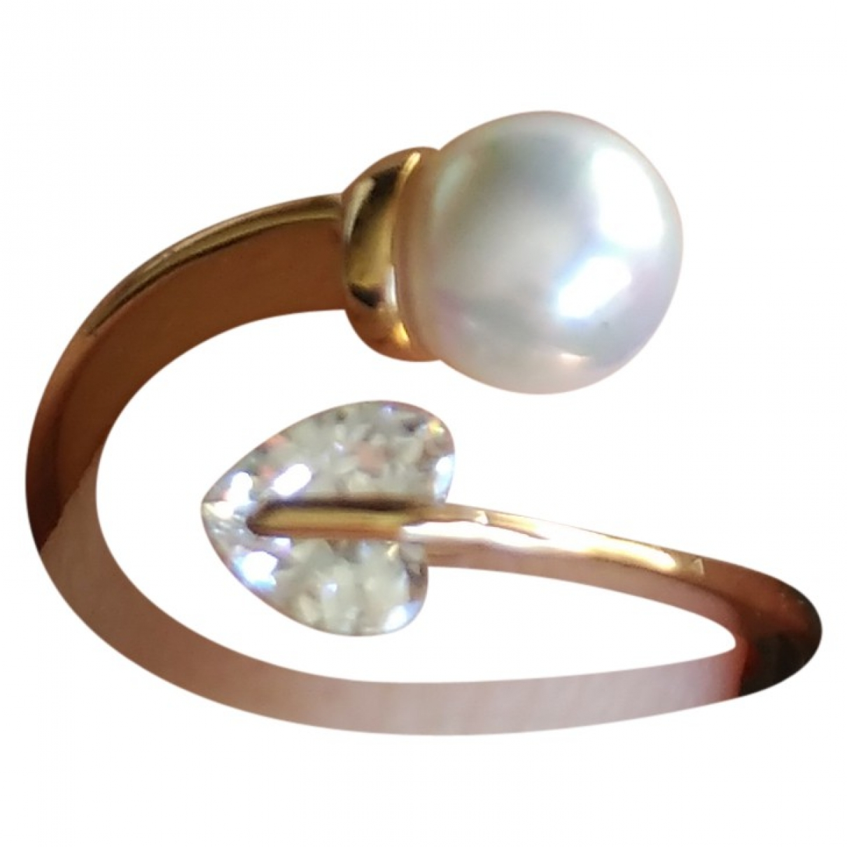 Non Signé / Unsigned Nacre Gold Metal ring for Women \N