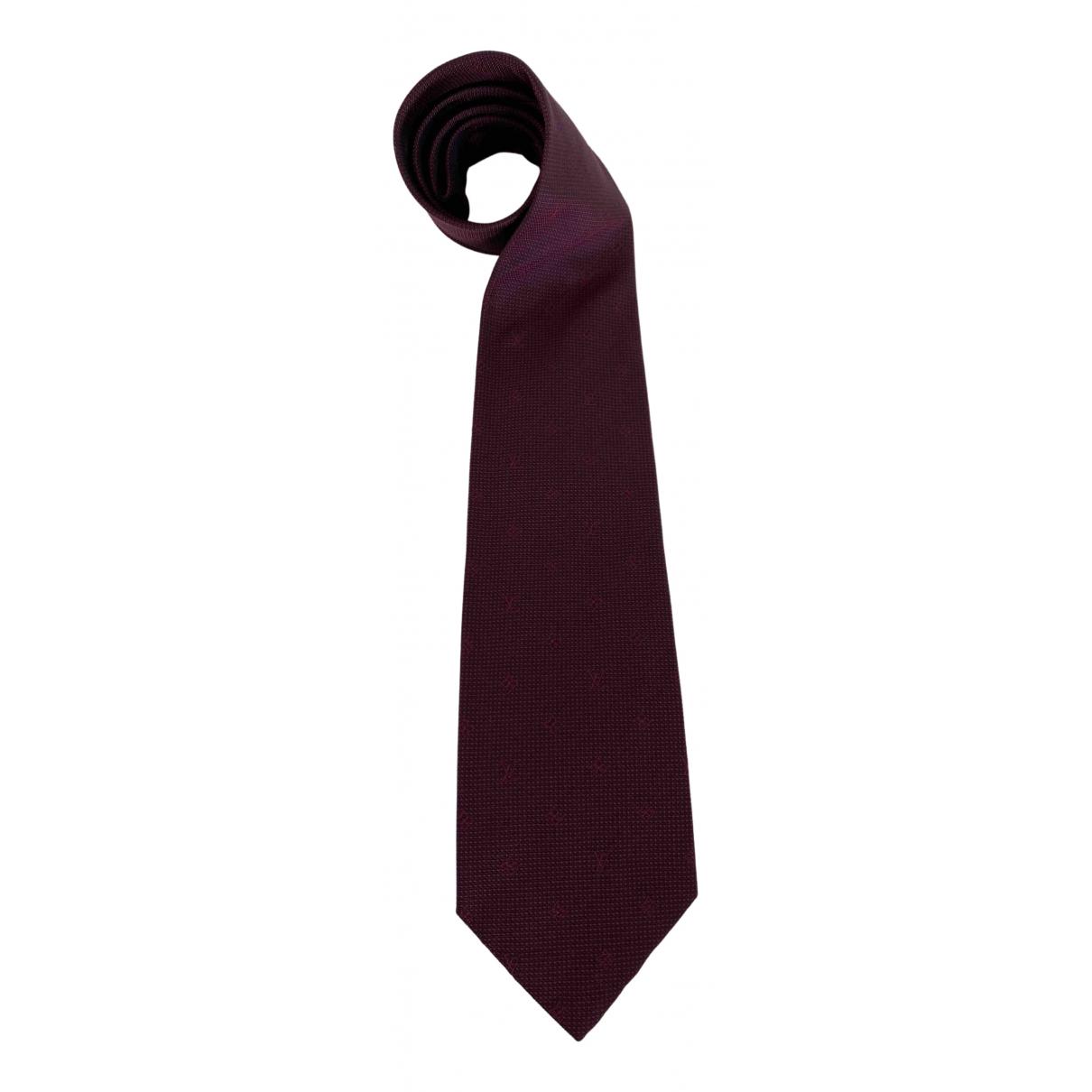 Louis Vuitton \N Burgundy Silk Ties for Men \N