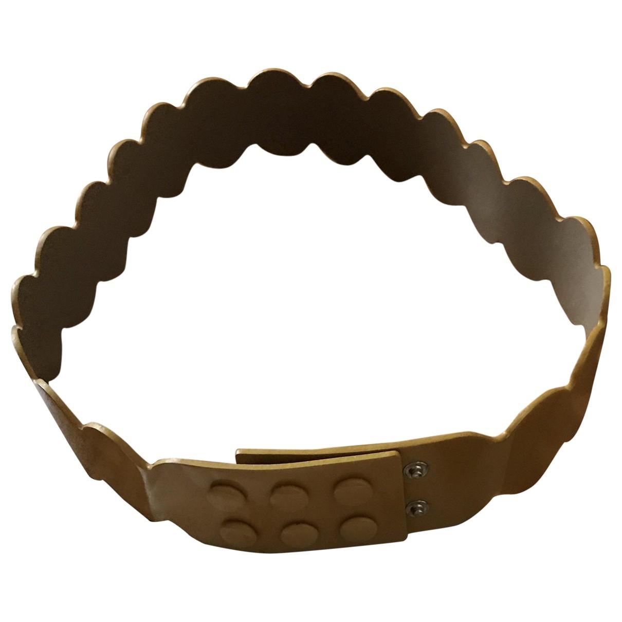 Paule Ka \N Yellow Patent leather belt for Women 95 cm