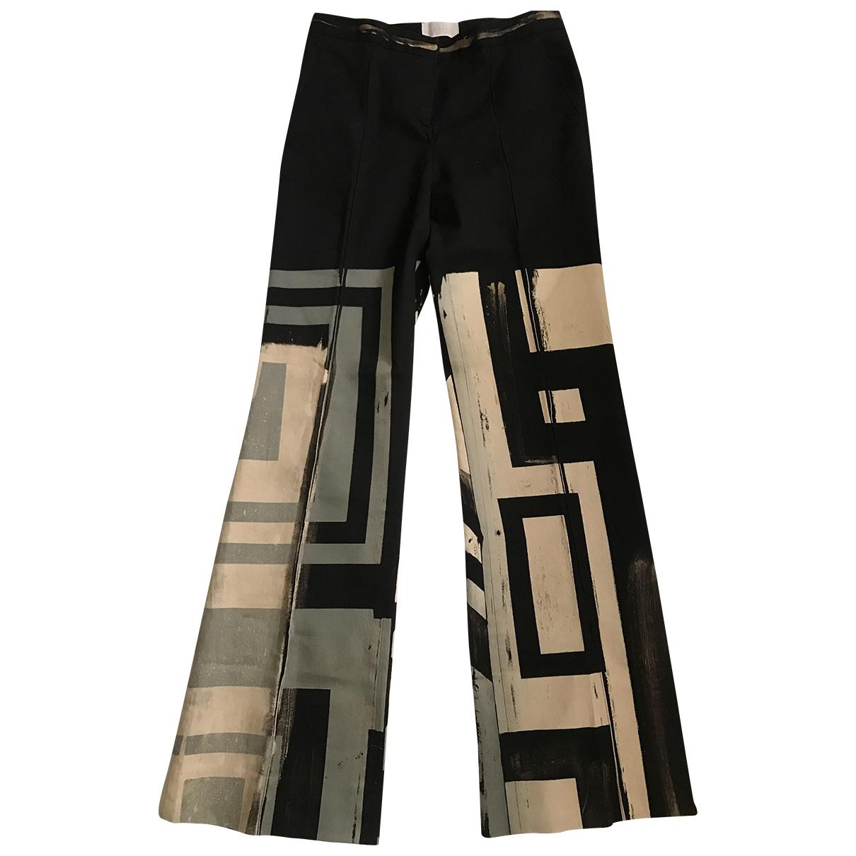 Iceberg \N Black Cotton Trousers for Women 38 FR