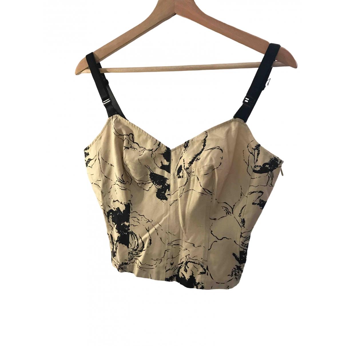 Alberta Ferretti \N Beige Silk  top for Women 44 IT