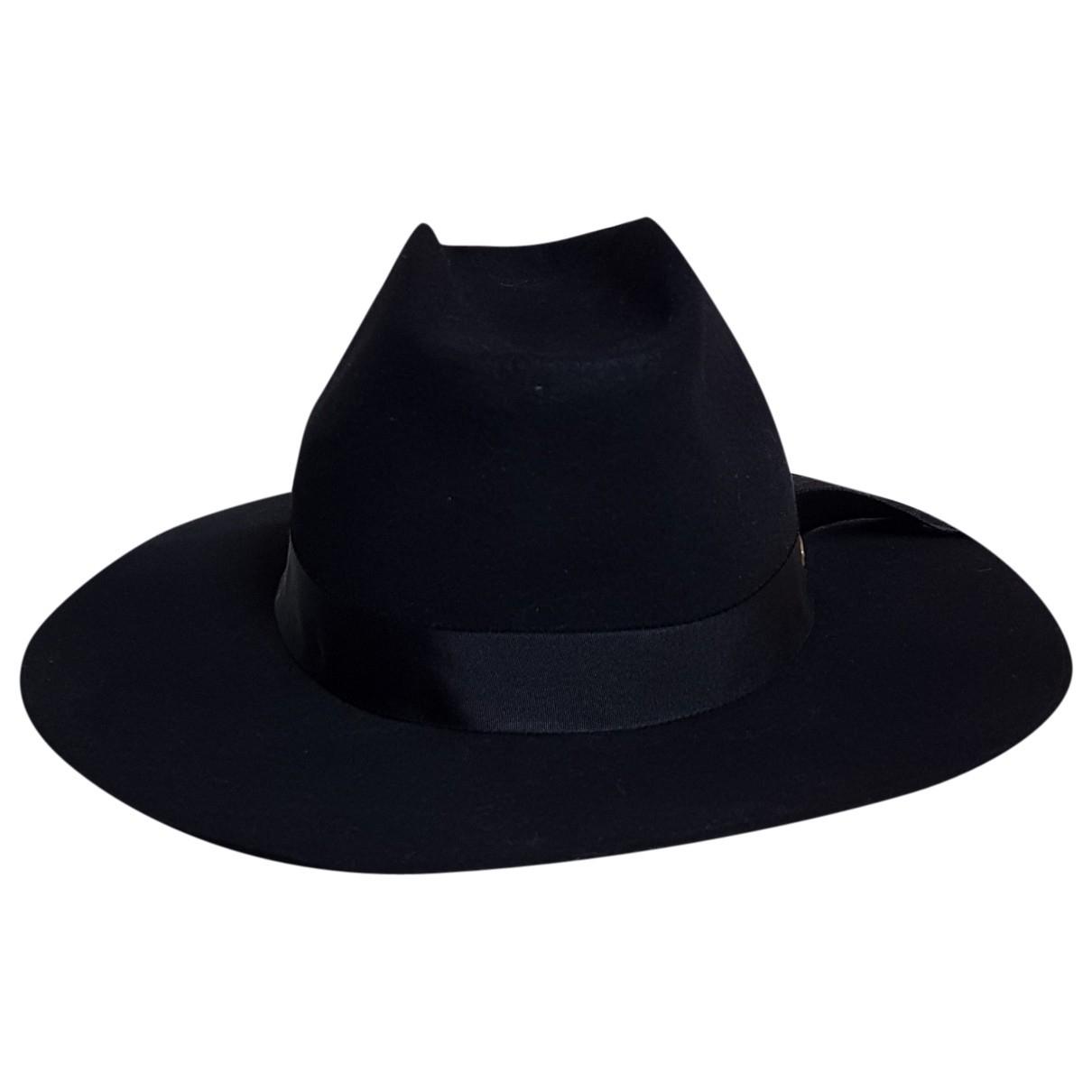 Super Duper \N Black Wool hat for Women 57 cm
