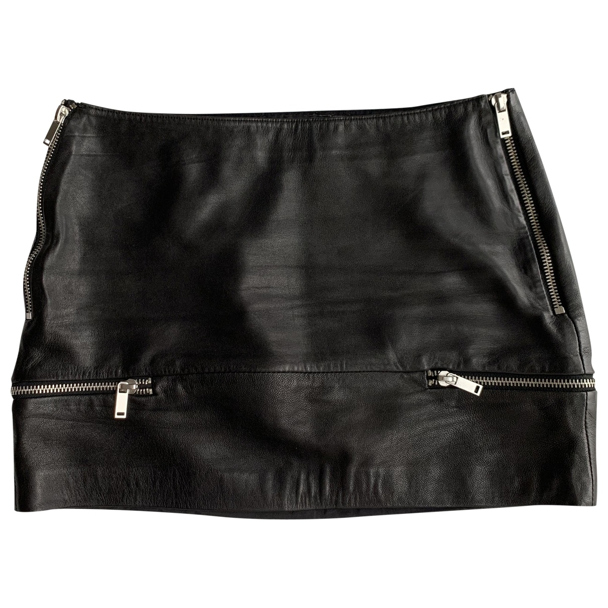 Zara \N Black Leather skirt for Women M International