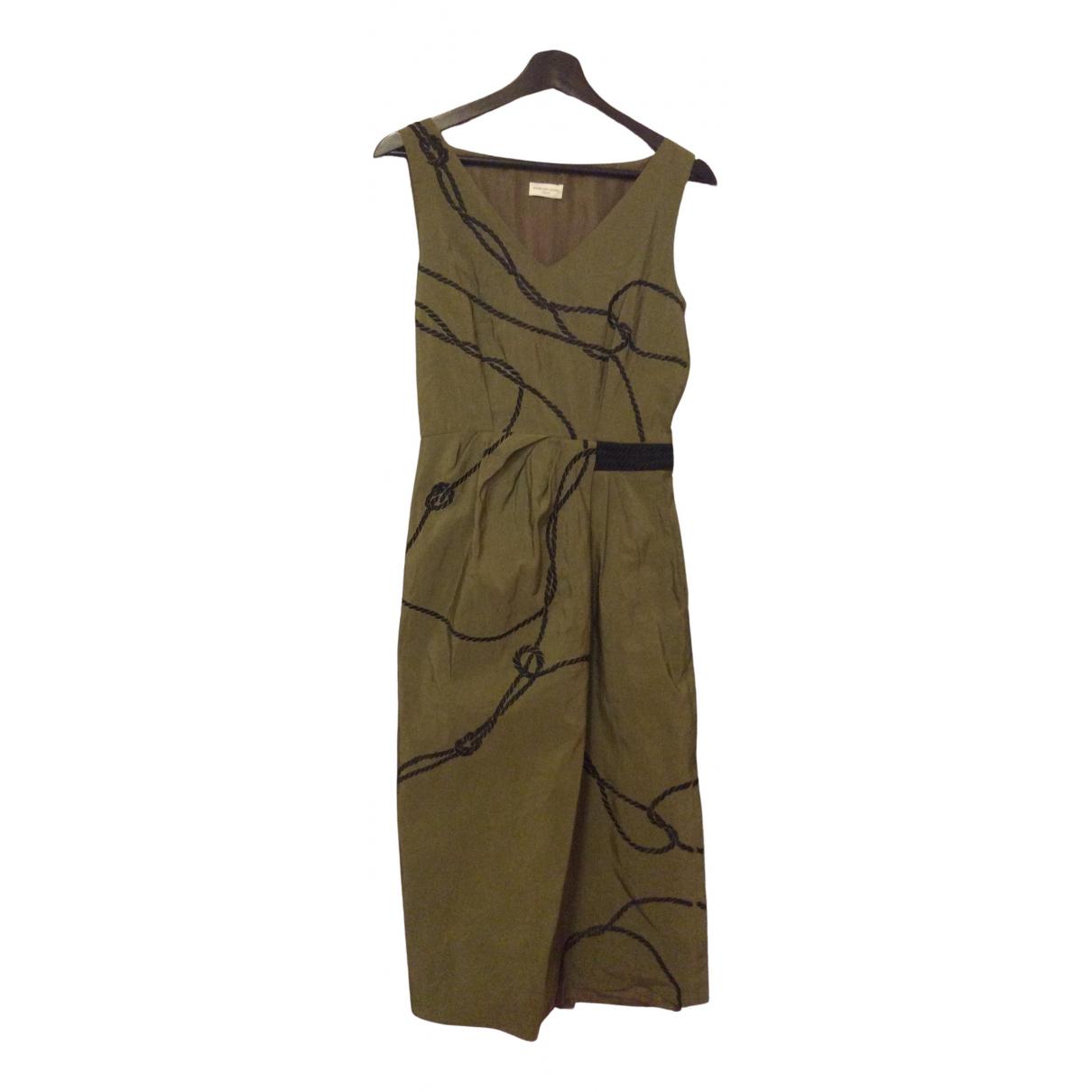 Dries Van Noten \N Green Cotton dress for Women 36 FR