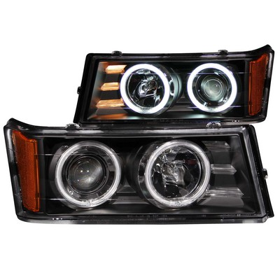 Anzo Projector Headlight Set; w/Halo - ANZ111079
