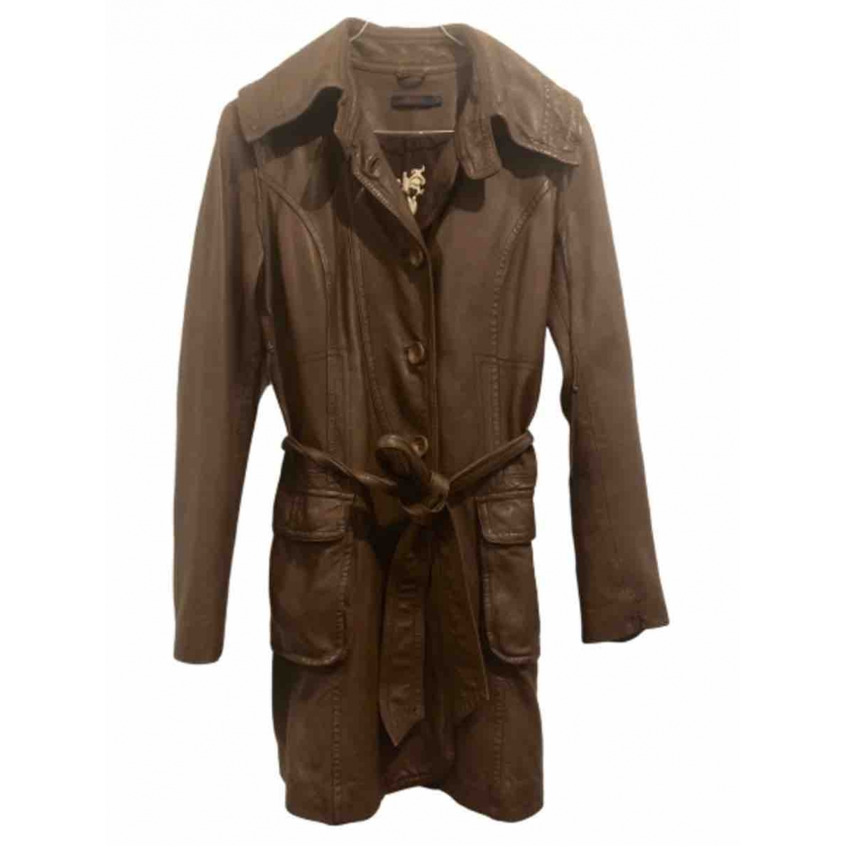 Kenzo \N Brown Leather Trench coat for Women M International