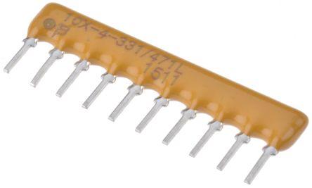 Bourns 4600X Series 330 Ω, 470 Ω ±2% Dual Terminator Through Hole Resistor Network, 16 Resistors, 1.25W total SIP (25)