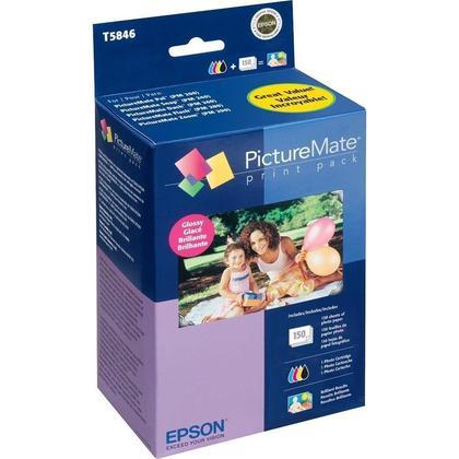 Epson T5846 encre Original et du papier print pack pour PictureMate 200 series