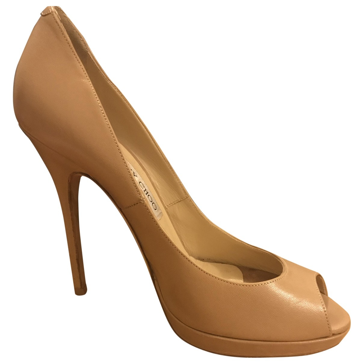 Jimmy Choo \N Beige Leather Heels for Women 38 EU