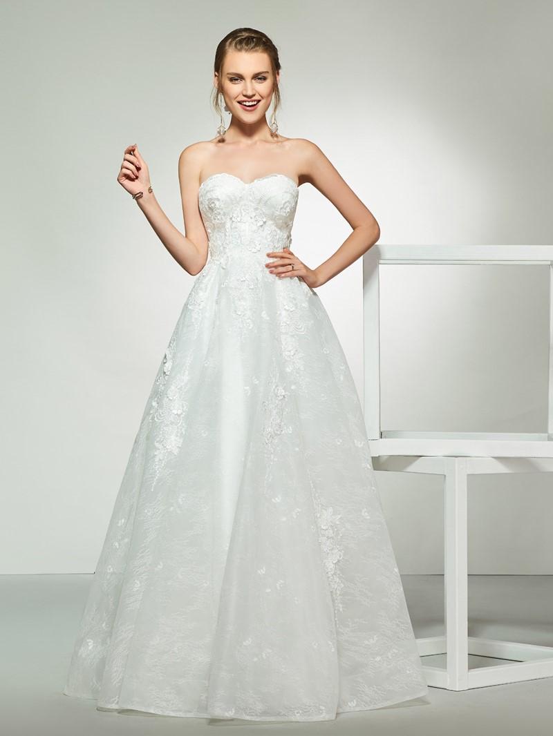 Ericdress A-Line Sweetheart Lace Wedding Dress
