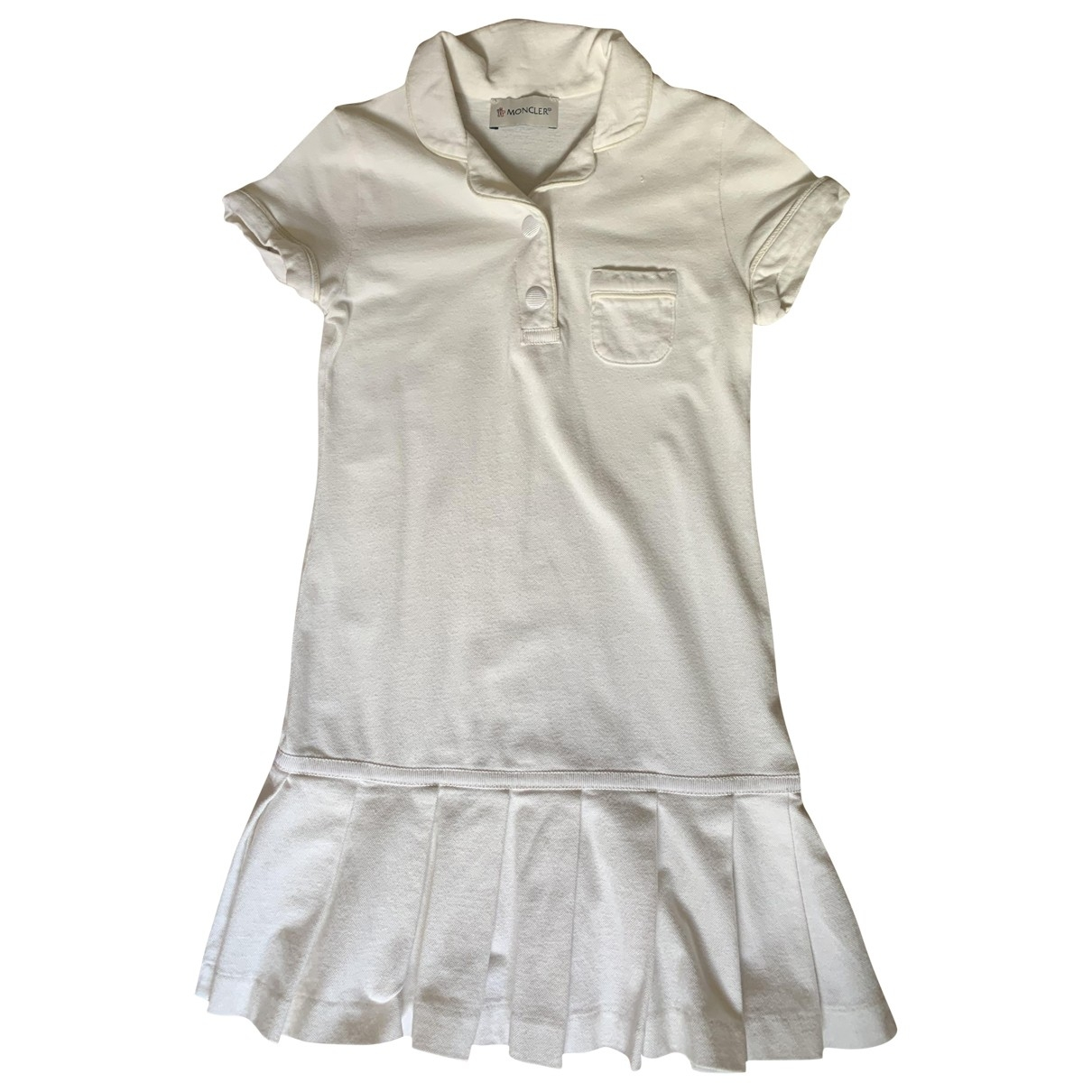 Moncler \N White Cotton - elasthane dress for Kids 6 years - up to 114cm FR