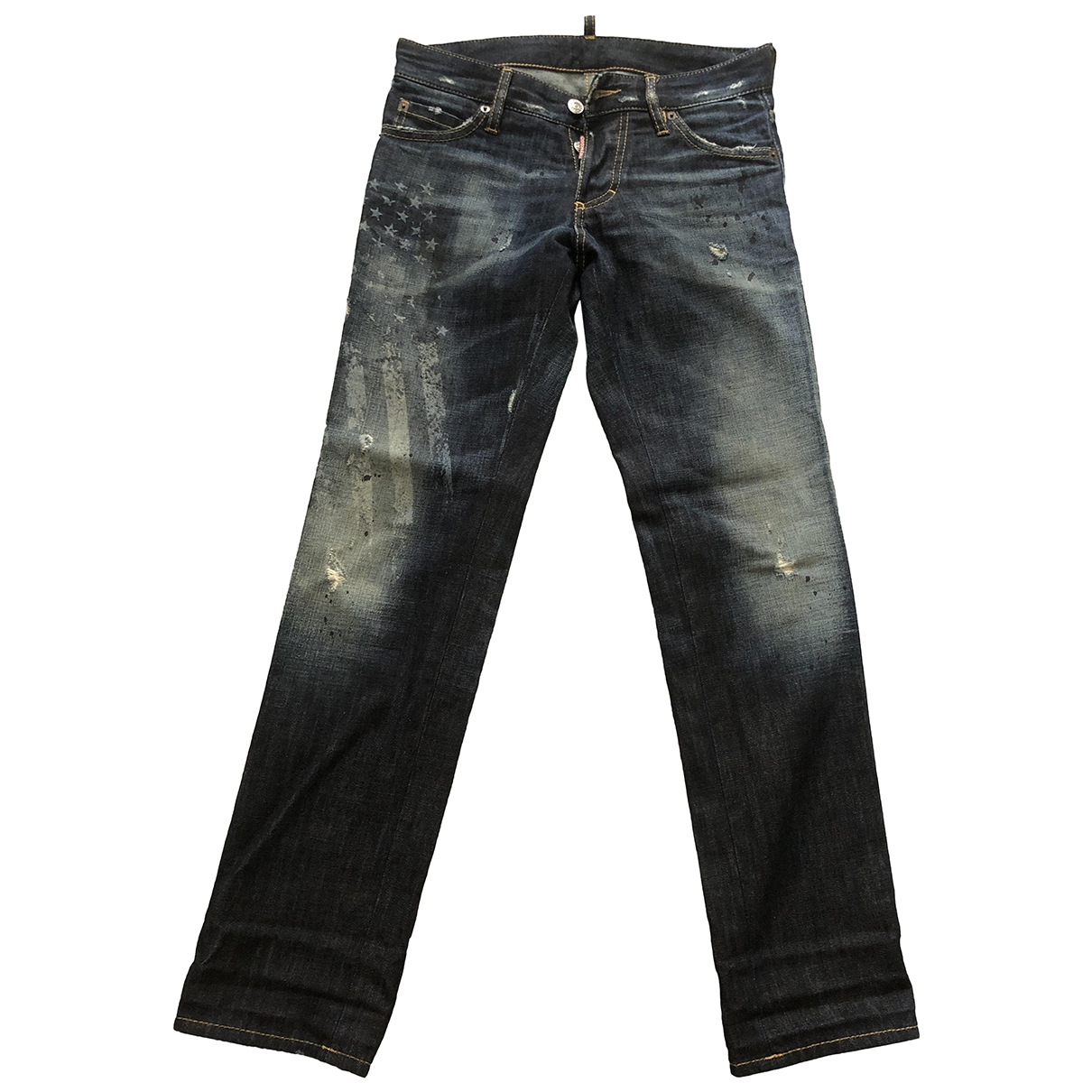 Dsquared2 \N Blue Cotton Jeans for Men 42 FR