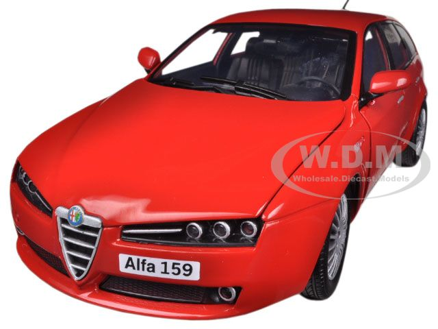 Alfa 159 SW Red 1/18 Diecast Car Model by Motormax