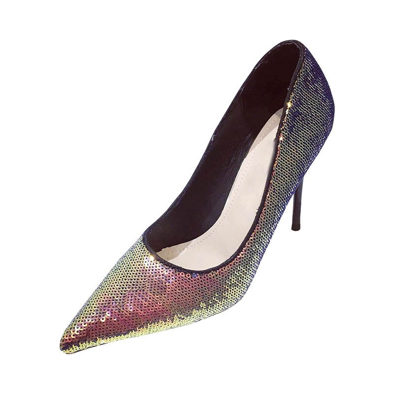 Ericdress Sequin Pointed Toe Stiletto Heel Women's Sexy Pumps