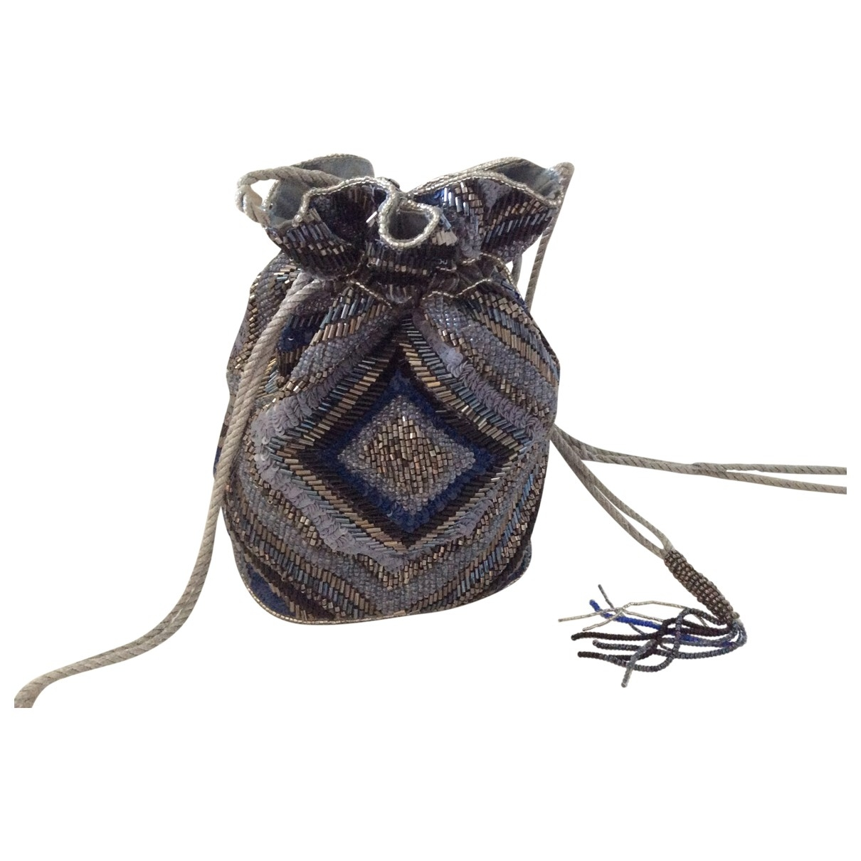 Non Signé / Unsigned \N Blue Glitter handbag for Women \N
