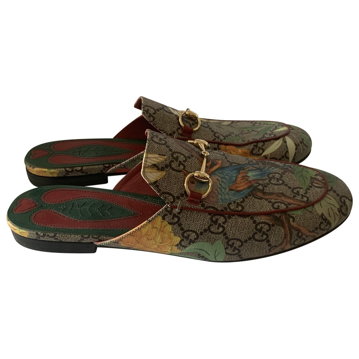 Gucci Princetown Multicolour Cloth Flats for Women 38.5 EU